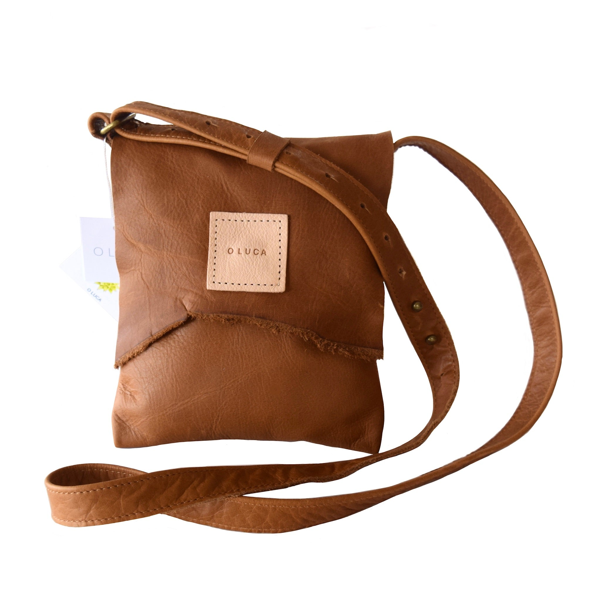 O OSLO - small crossbody purse handbag - Caramel