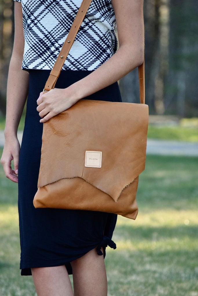 O OSLO - large crossbody purse handbag - Caramel