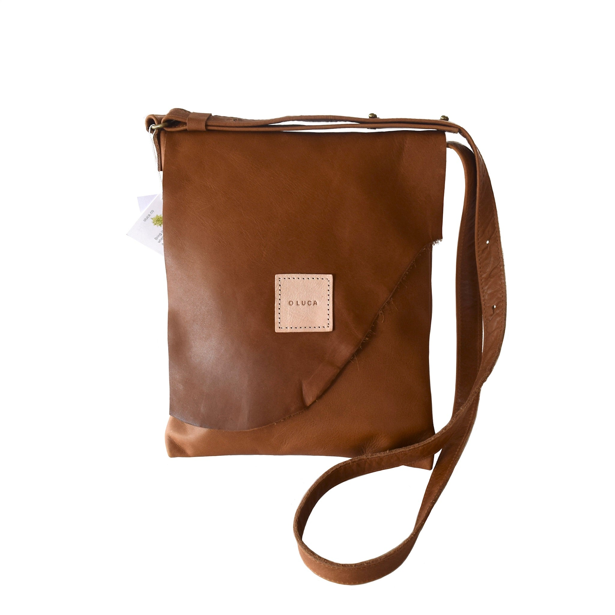 O OSLO - medium crossbody purse handbag - caramel