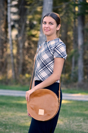 O STOCKHOLM - leather crossbody purse handbag - caramel