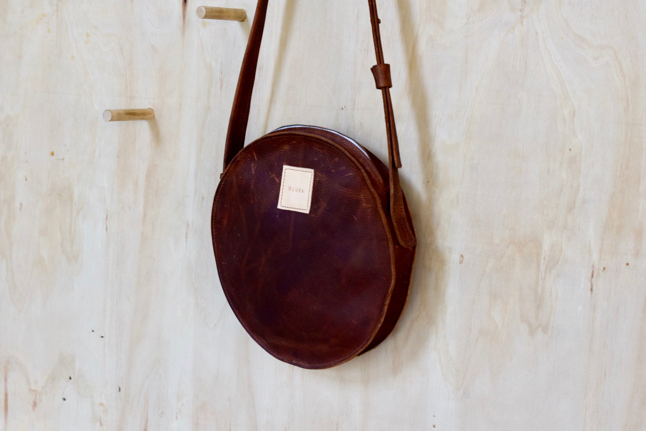 O STOCKHOLM - leather crossbody purse handbag - brown