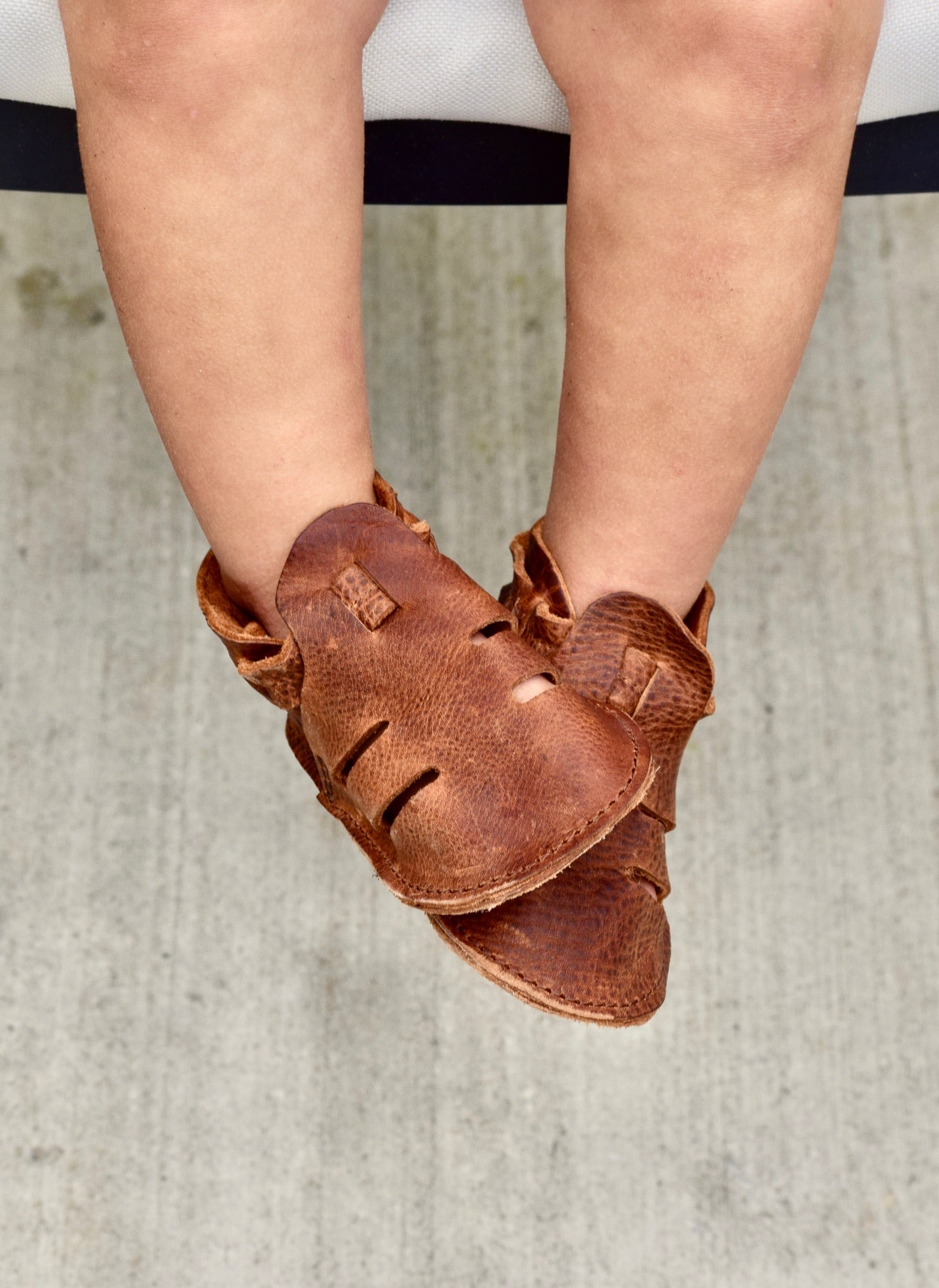 LITTLE LOU - Kodiak leather soft sole summer sandals