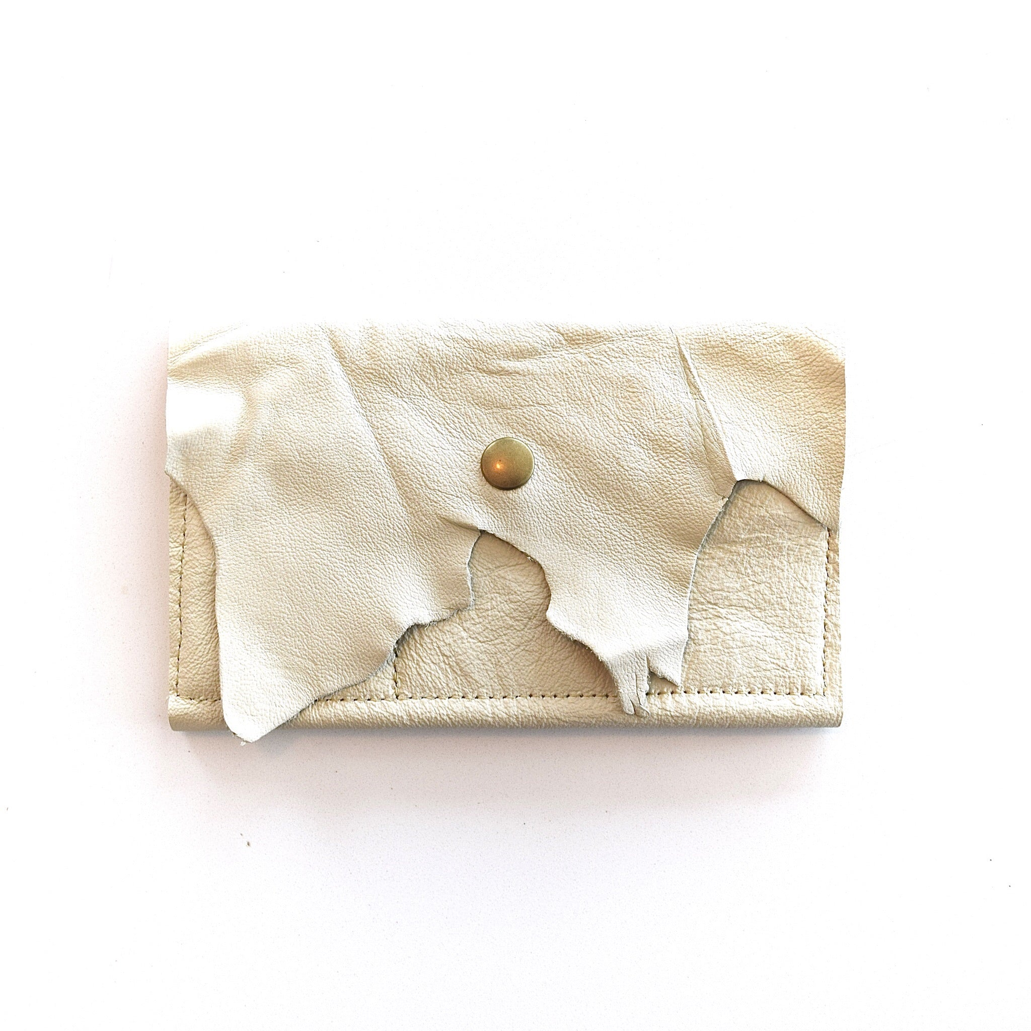 O FRANCISCO - leather wallet - cream