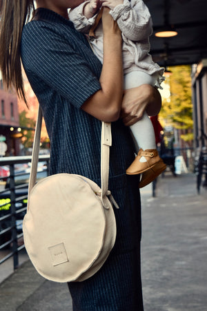 O STOCKHOLM - leather crossbody purse handbag - natural