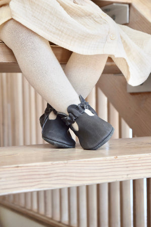 LITTLE LUCY - leather baby and toddler shoes - slate