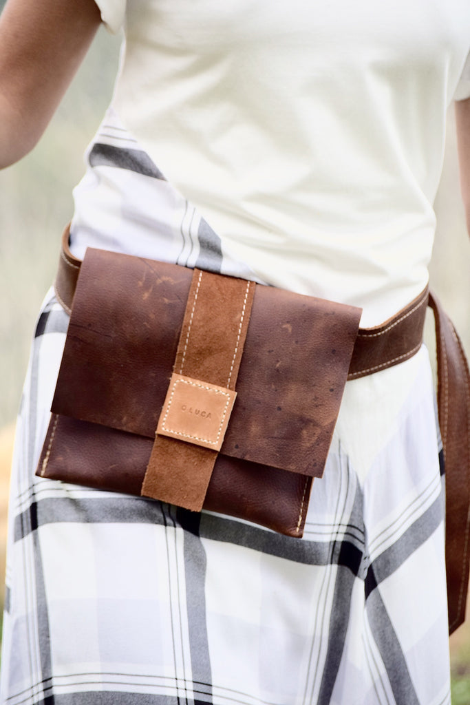 O PARIS - leather hip pack - brown