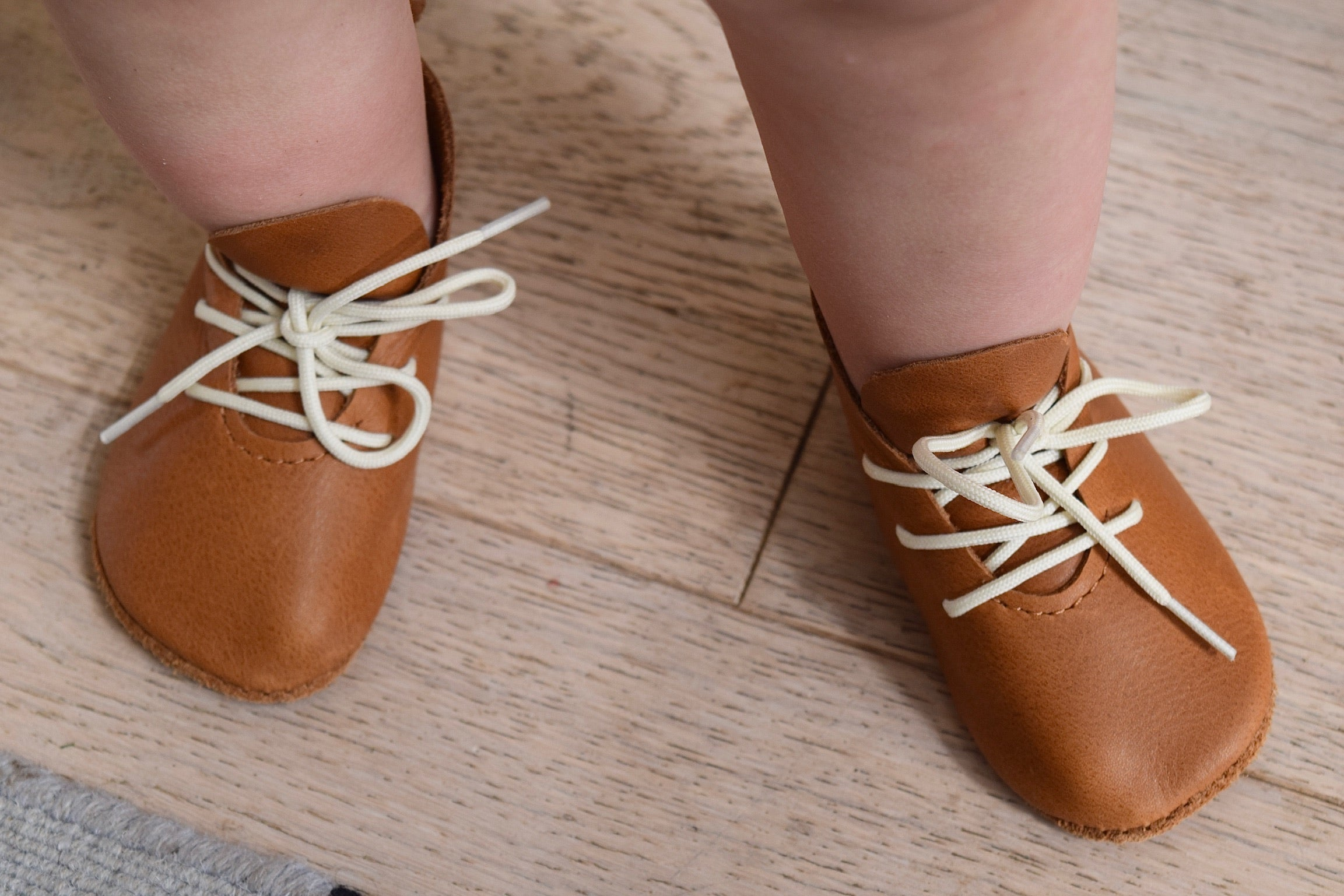 LITTLE LINCOLN - leather baby and toddler shoes - caramel