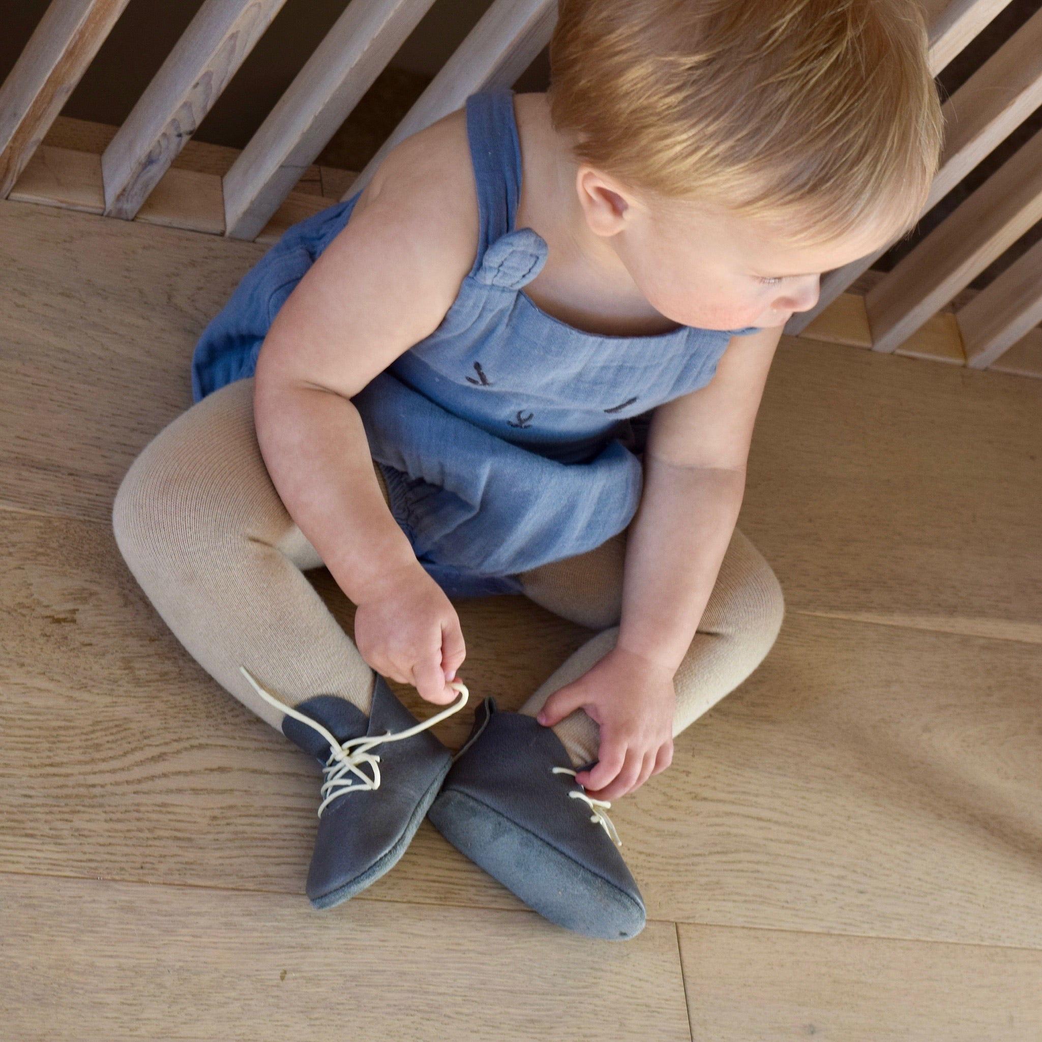 LITTLE LINCOLN - leather baby and toddler shoes - Slate