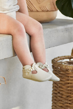 LITTLE LUCY - leather baby and toddler shoes - cream