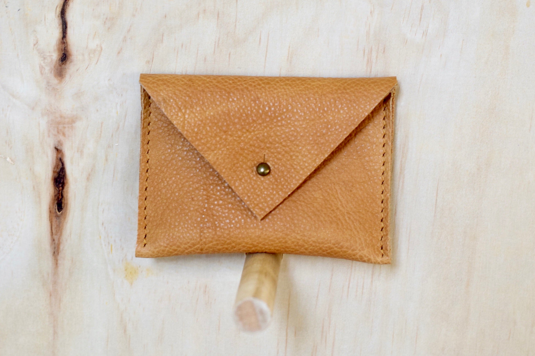 O NEW YORK - leather card wallet - Saddle Tan