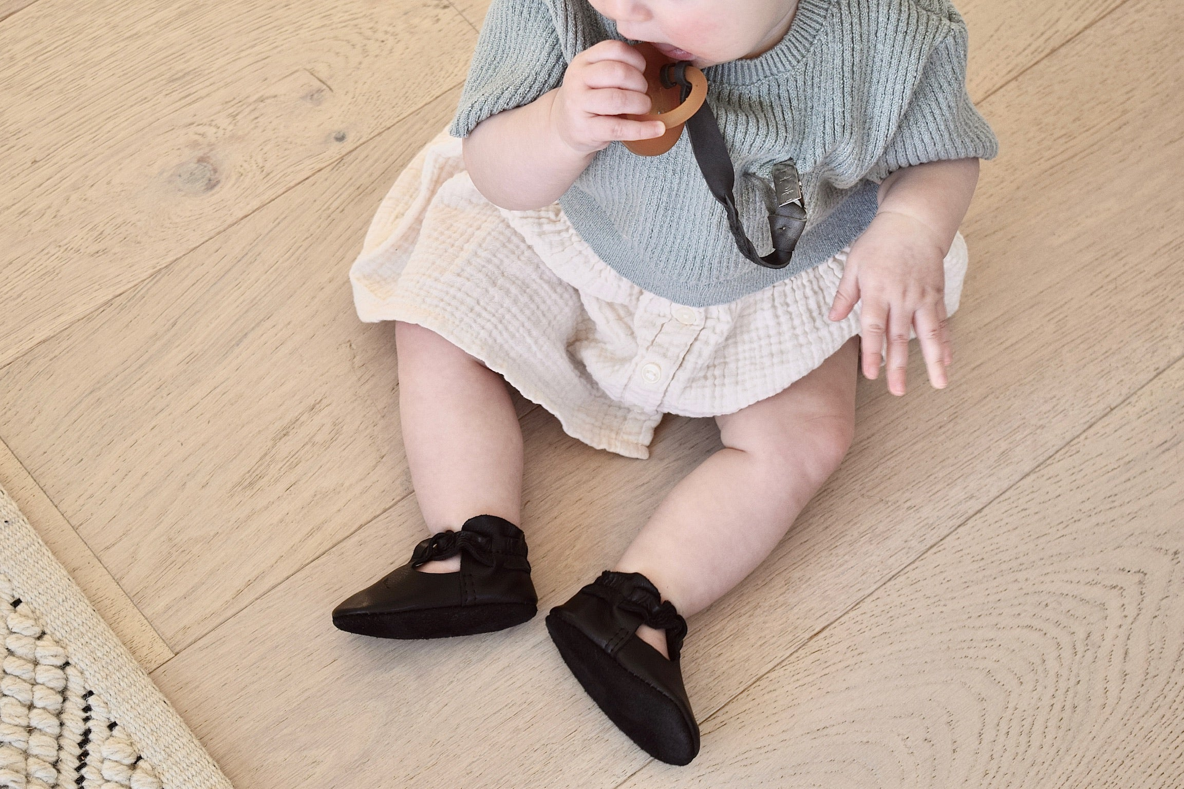 LITTLE LUCY - leather baby and toddler shoes - black