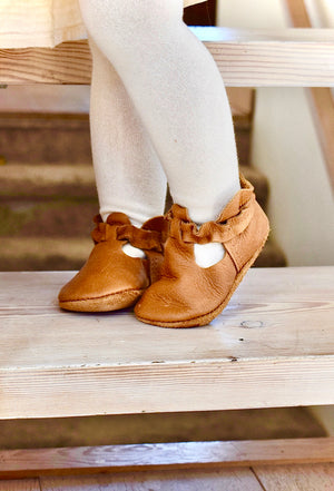 LITTLE LUCY - leather baby and toddler shoes - caramel