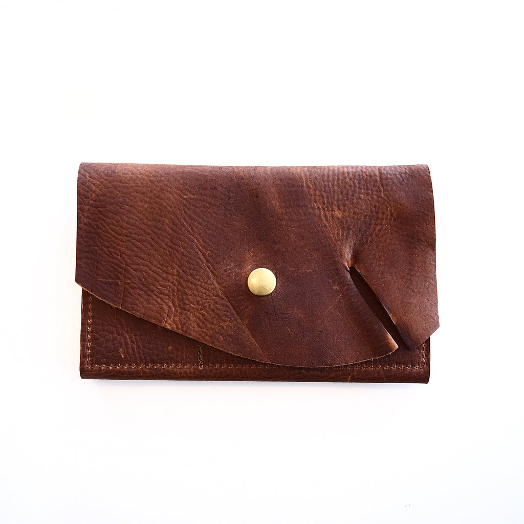 O FRANCISCO - leather wallet - brown kodiak