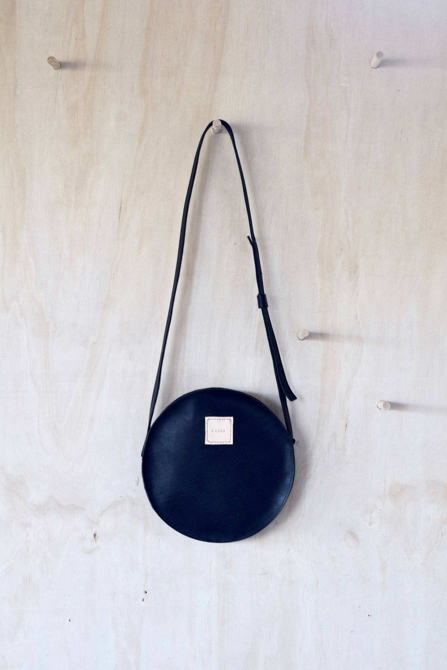 O STOCKHOLM - leather crossbody purse handbag - black