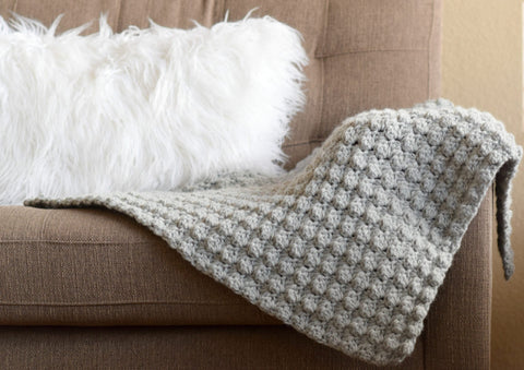 simple crocheted blanket