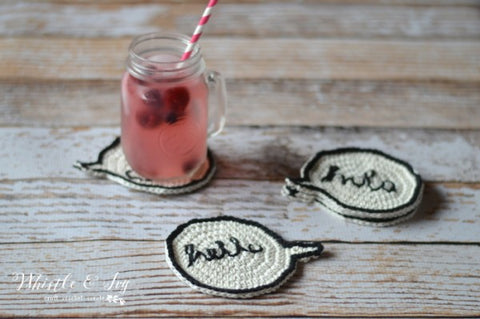 speech bubble coasters