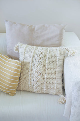 farmhouse cables pillow
