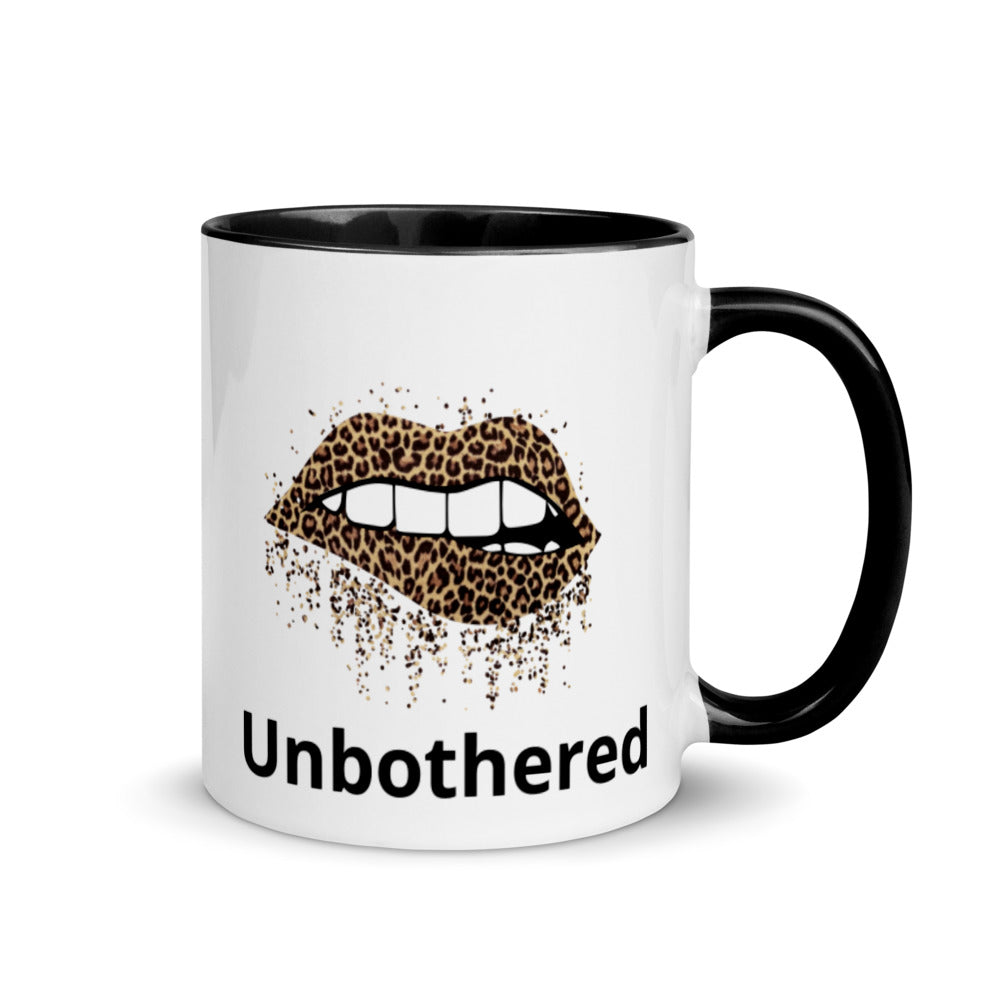 Unbothered Mug with Color Inside