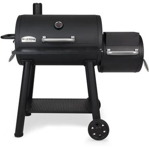 Broil King Smoke 32-Inch Offset Charcoal Smoker - Black