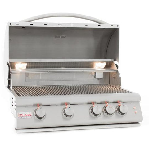Blaze LTE 32-Inch 4-Burner Built-In Natural Gas Grill With Rear Infrared Burner & Grill Lights - BLZ-4LTE-NG