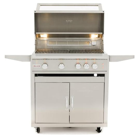 Blaze Limited Edition 32-Inch 4-Burner Freestanding Propane Gas Grill With Rear Infrared Burner