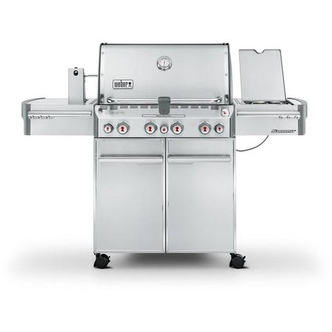 Weber Summit S-470 Freestanding Propane Gas Grill With Rotisserie, Sear Burner & Side Burner