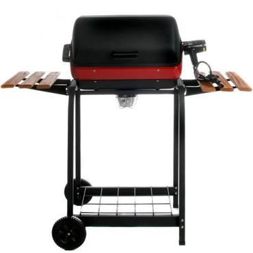 Meco Electric Grill On Cart With Fold Down Side Tables - 9325