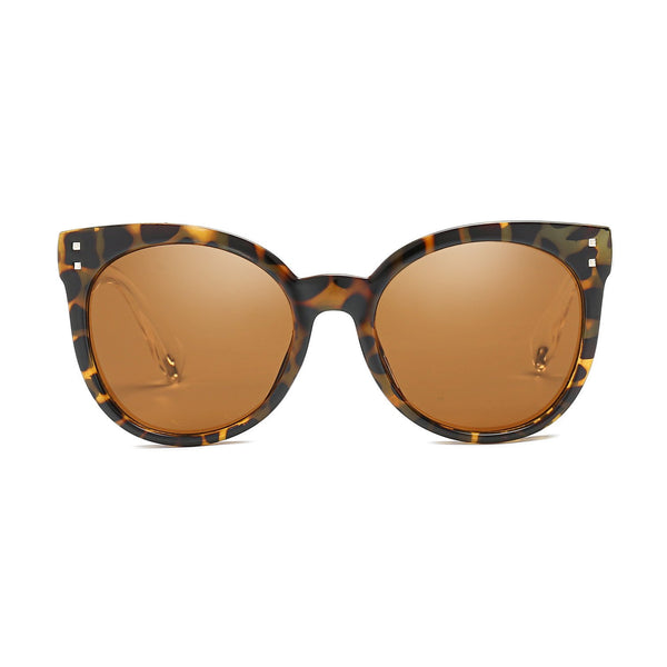 Jaunty Mirrored Lens Soft Cat Eye Sunglasses