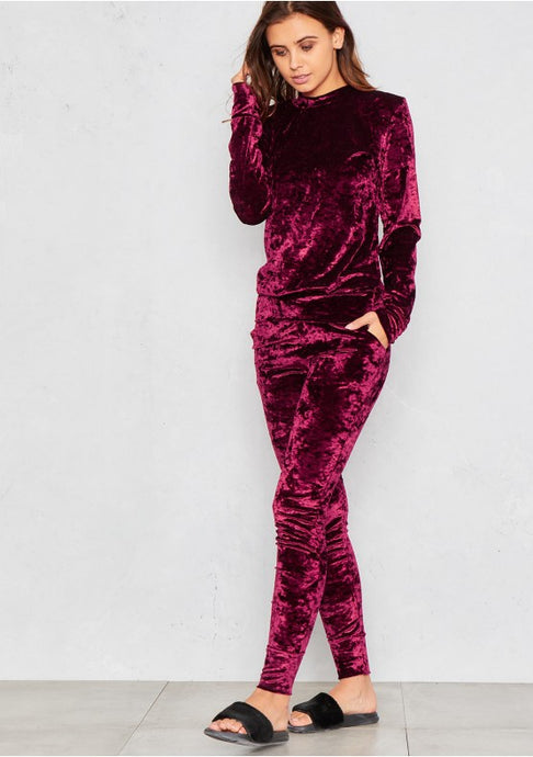 Wine Velour Set
