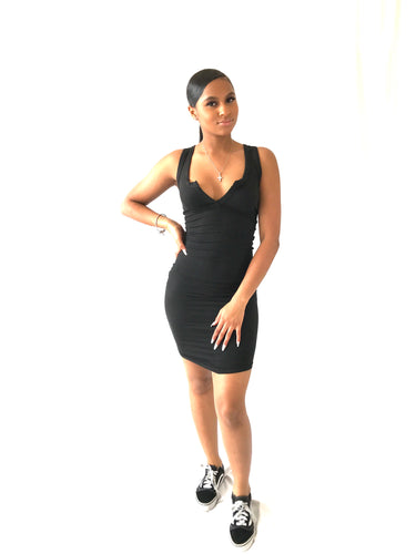Black Racer Back Dress