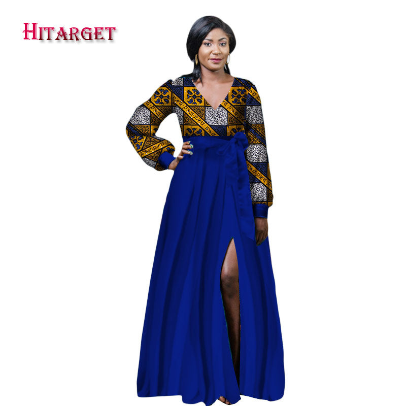 479bd098c9a ... 2017 robes pour les femmes africaines africain bazin riche robe Dashiki femmes  robe coton africain imprimer