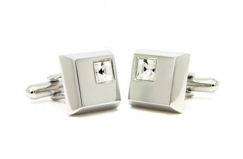 Cornerstone Clear Cufflinks