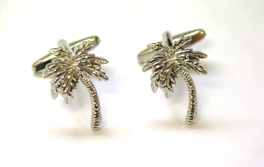 Silver Palm Tree Cufflinks