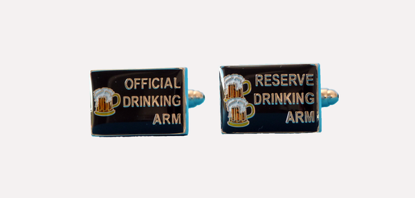 Drinking Arm Cufflinks