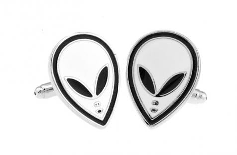White Alien Cufflinks