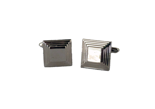 Silver Boarder Square Cufflinks