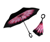 Inverted pink flower umbrella