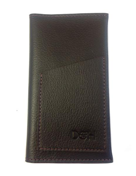 The Negotiator - Genuine Leather phone wallet Dark Brown