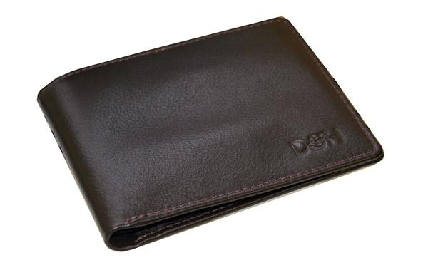 The Wall Street Genuine Leather Slim-Fit Card Wallet - Dark Brown