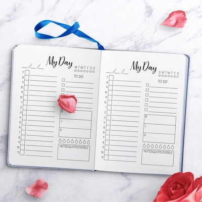 "Bullet Journal Free Printable- ""My Day"" Daily Schedule"