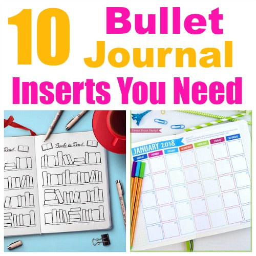 10 Bullet Journal Inserts You Absolutely Need