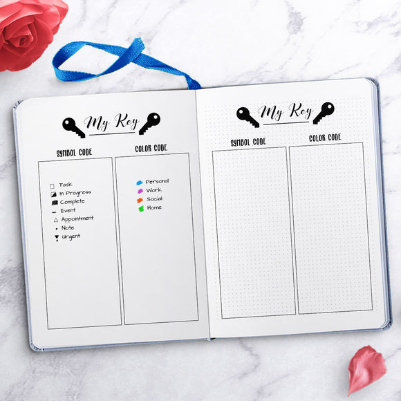 Free Printable Bullet Journal Key Page