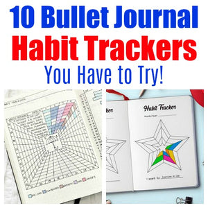 10 Bullet Journal Habit Trackers to Help You Achieve Your Goals