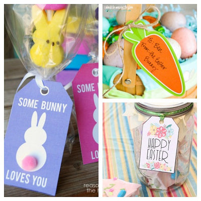 picture about Free Printable Easter Gift Tags identified as 17 No cost Printable Easter Reward Tags The Electronic Obtain Store