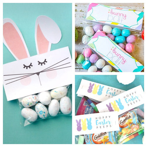 12 Free Printable Easter Treat Bag Toppers