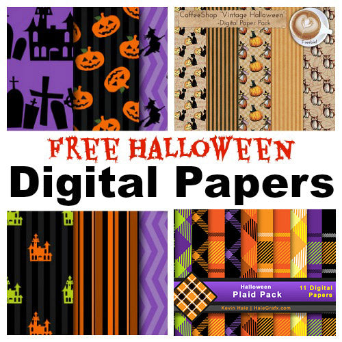 9 Free Halloween Digital Papers
