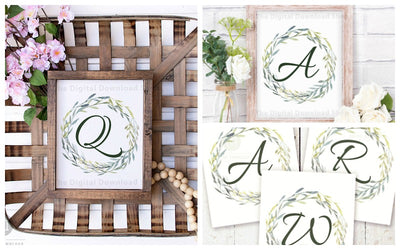 Free Printable Monogram Wall Art