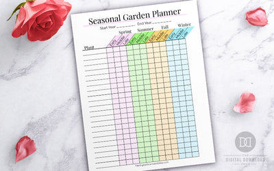 Free Printable Seasonal Garden Planner