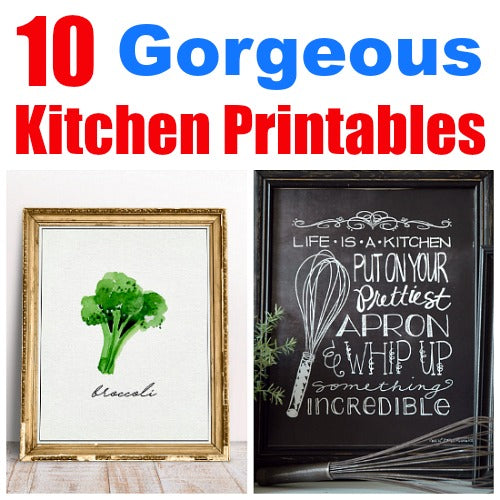 10 Gorgeous Kitchen Printables You Need to Print