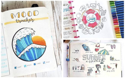 15 HOT Summer Bullet Journal Layouts